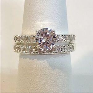 Macy's Charter Club Engagement Ring Set Sz 8